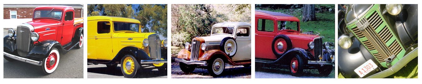 1934 to 1936 Chevy & GMC Truck Parts only at Jim Carter's Old Chevy Trucks.